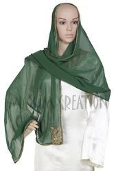 Large Georgette Scarf With Simple Design