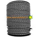 Gray Braided Leather Cord