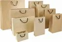 Brown Paper Bag, For Shopping, Plain & Printed