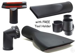 RODAK Tool Set With Parking Clip Includes Crevice Tool, Nozzle, Furniture Brush, Free Clip, 35mm
