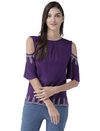 2f94d91a7fb Ladies Top - TSF400793 Round Neck Tops Manufacturer from Gurgaon