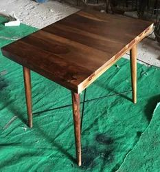 Brown Wooden Cafe Table, Seating Capacity: 4