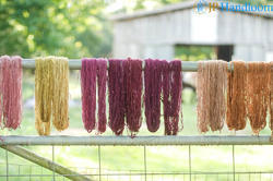 Hand Spun Hemp Dyed Yarns