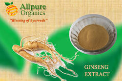 ALLPURE ORGANICS Panax Ginseng Extract, Packaging Type: HDPE DRUM