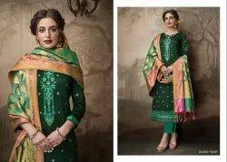 Parnita Vol-2 Jam Silk Foil Print With Designer And Banarasi Dupatta Designer Suits