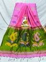 Silk Red Border And White Base Ladies Fancy Saree, 6.3 M (with Blouse Piece), Machine Made