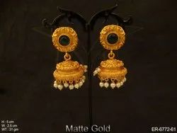Kemp Stoned Jhumki Earrings