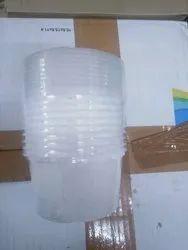Transparent Plain 200 ml Disposable Plastic Glass, 51 Micron
