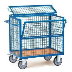 Half Open Wire Net Tray Trolley