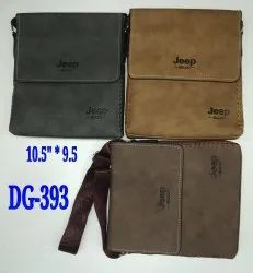Brown Adjustable Side Bags for Office