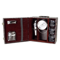 Dark Brown - 03 with Ice Bucket Travel Mini Bar Set