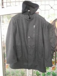 Black Full Sleeves men's hoodie overcoat