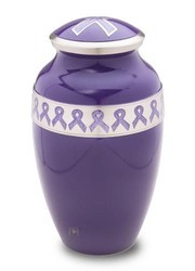 Blue Ribbon Alloy Cremation Urn