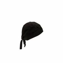 Black Cotton Hotel Cap, Size: Medium