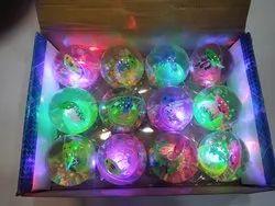 Plastic Hi-Bounce Crystal Water Glitter Light Ball