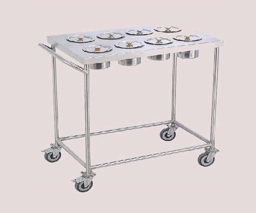 KKE Stainless Steel Masala Trolley, For Hotels