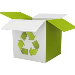 White And Green Color Printed Corrugated Box