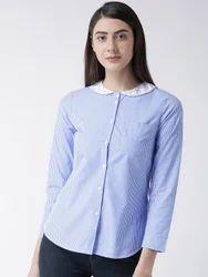 Womens Striped Blue Shirt
