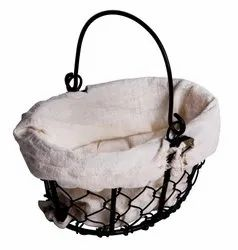 Brown Bamboo MS Basket with Cloth