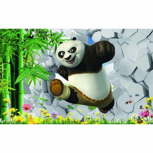 Vinyl Printed Kungfu Panda Cartoon Wallpaper