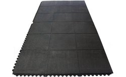 Black Rubber Gym Floor Mats