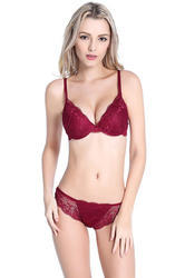 e2e92d2d55d19 Bra   Panty Sets 75% Polyester   25% Elastane Pink Color Lace Bra Panty