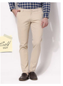 Beige Regular Fit Chino Trousers