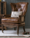 High Back Leather Arm Chair, Leather Chair