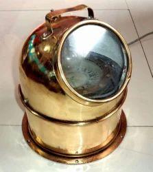 Antique Original Nautical Boat Brass Binnacle Compass