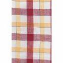 Red Check Linen Checks Shirts Fabric