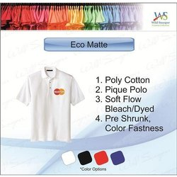 Half Sleeve Cotton Mens Polo Neck Eco Matte T-Shirts, Packaging Type: Packet