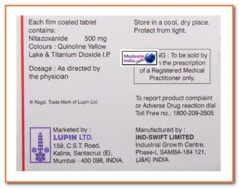 Nitazoxanide ( Nizonide) Tablet