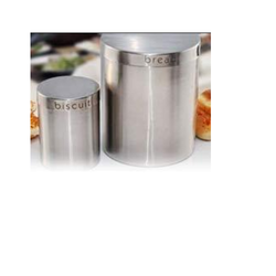 Stainless Steel Bread - Biscuit Container, Size: 114 X 18 Cm