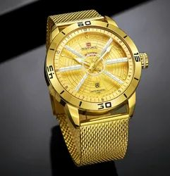 Round NF9155 Naviforce Luxury Watch Men, For Personal Use