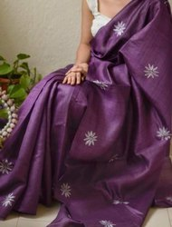 Tussar Silk Embroidery Sarees