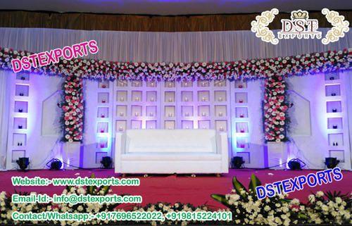 Fiber Backdrop Panels Glorious Wedding Stage Oval Panels