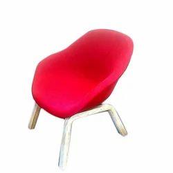 Teak Wood Red Living Room Chair
