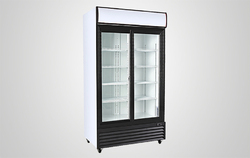 Stainless Steel Single Glass Door Refrigerator, Capacity: 200-1000 L