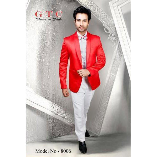 a4abe54e6a Men's Plain Shining Red 3-Piece Suit, Size: S, M And L, Rs 10500 ...