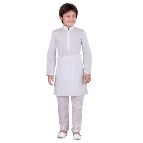 fb0acb28d414 Boy White Kids Kurta Pajama