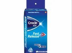 Crocin 650 Tablets, Packaging Type: Packet