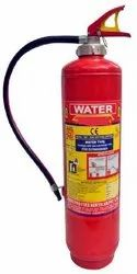 Red Mild Steel Water Co2 Cartridge Type Fire Extinguisher, Capacity: 6 & 9 ltr