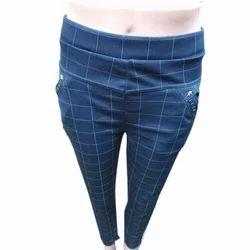 Cotton Ladies Blue Legging