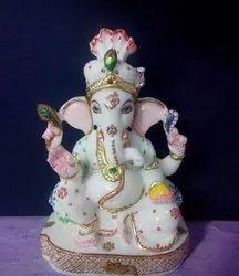 Baby Marble Ganesha Statue
