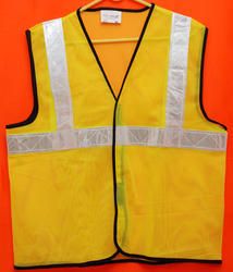 Reflective Vizwear Vests / Jackets 2 Green Front Opening In Mesh Fabric (v-10)