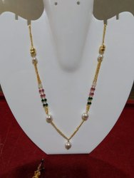 Party Necklace Immitation Traditional Gold Mala