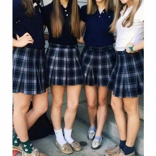 Cotton Girls Secondary School Uniform, Rs 390 Set, Orange -8934