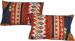 Indian Handmade Cotton Ikat Print Pillow Covers