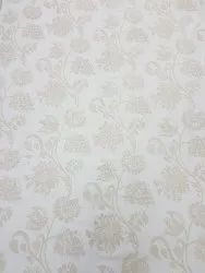 White On White Hand Embroidered Curtain Fabric