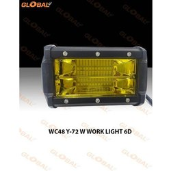 Global 72W 6D Fog Work Light, Shape: Rectangle